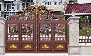 铝艺大门 - 别墅门LV-007 - 威海中出网-城市出入口设备门户