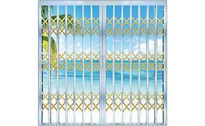 不锈钢拉闸门 - 螺纹管拉闸门 - 威海中出网-城市出入口设备门户