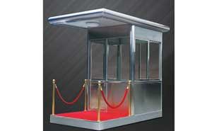 不锈钢岗亭 - 不锈钢岗亭GDHT-15 - 威海中出网-城市出入口设备门户