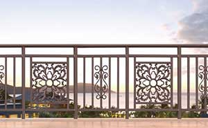 铝艺护栏 - 护栏FGL-H6002 - 威海中出网-城市出入口设备门户
