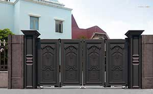 电动折叠门 - 智能悬折门938-FA2(深咖) - 大庆中出网-城市出入口设备门户