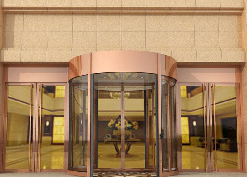 旋转门 - KA270自动旋转门 - 菏泽中出网-城市出入口设备门户