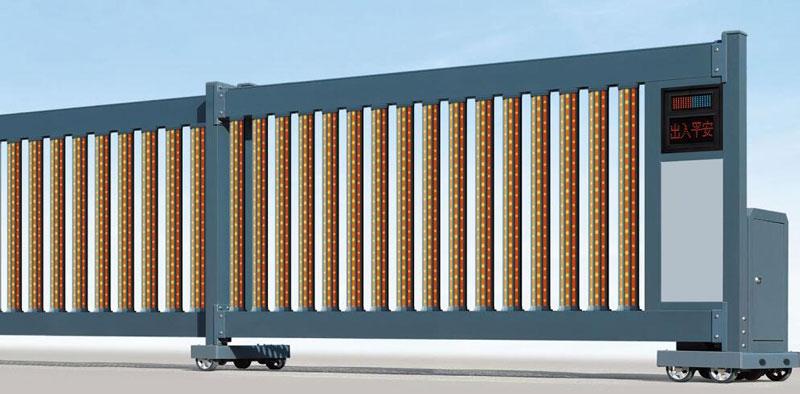 直线平移门 - 直线门906E(磨砂深灰) - 江门中出网-城市出入口设备门户