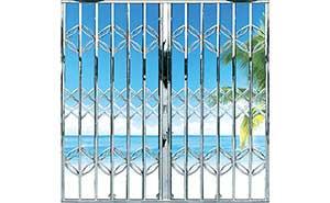 不锈钢拉闸门 - 双混合拉闸门 - 江门中出网-城市出入口设备门户