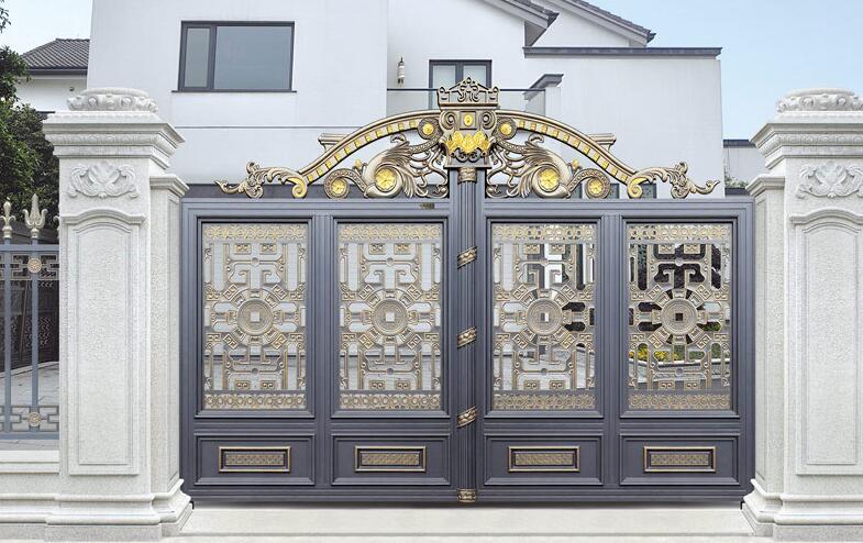 福安MOMA选用焦作出安智能铝艺大门