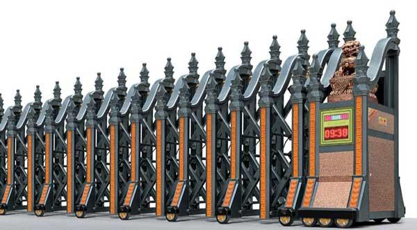通辽碧桂园项目选用通辽出安智能伸缩门作为出入口设备