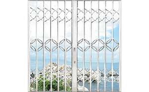 不锈钢拉闸门 - 三混合型拉闸门 - 通辽中出网-城市出入口设备门户