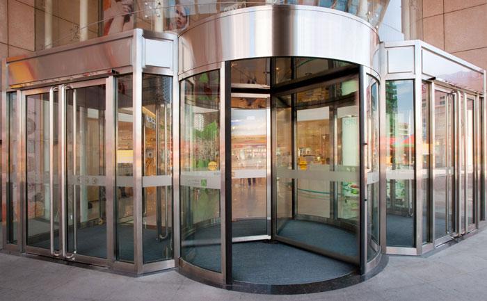 旋转门 - KA230-三四翼旋转门 - 平顶山中出网-城市出入口设备门户