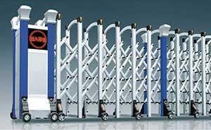 铝合金伸缩门 - 华美-L - 日照中出网-城市出入口设备门户