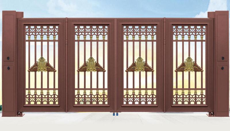 电动折叠门 - 智能悬浮折叠门007 - 曲靖中出网-城市出入口设备门户
