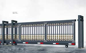直线平移门 - 悬挂式直线门908C-H(深灰) - 开封中出网-城市出入口设备门户