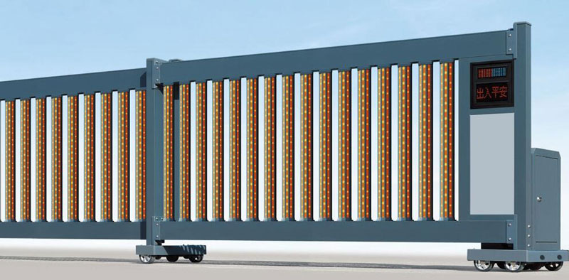 直线平移门 - 直线门906E(磨砂深灰) - 南充中出网-城市出入口设备门户