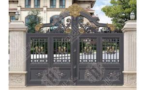别墅庭院大门 - 铝艺庭院门-JT-DM013 - 中出别墅大门网
