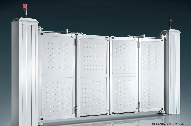 电动折叠门 - 智能悬浮折叠门-开泰LP-DD4A(白) - 十堰中出网-城市出入口设备门户
