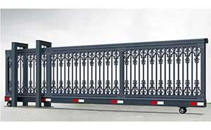 直线平移门 - 悬挂式直线门908C(深灰) - 阳江中出网-城市出入口设备门户