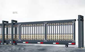 直线平移门 - 悬挂式直线门908C-H(深灰) - 阳江中出网-城市出入口设备门户