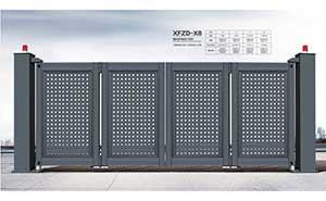 电动折叠门 - 智能悬浮折叠门-XFZD-X8 - 四平中出网-城市出入口设备门户