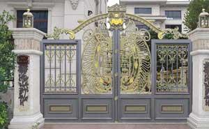 铝艺大门 - 卢浮魅影·皇族-LHZ-17113 - 四平中出网-城市出入口设备门户