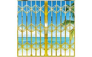 不锈钢拉闸门 - 全钛金花型拉闸门 - 抚顺中出网-城市出入口设备门户