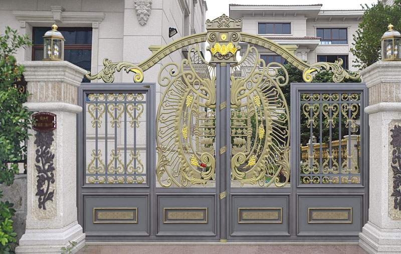 铝艺大门 - 卢浮魅影·皇族-LHZ-17113 - 内江中出网-城市出入口设备门户