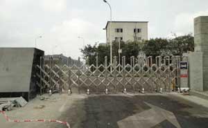 内江市信息安全产业园电动伸缩门案例