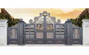 铝艺大门 - 卢浮幻影-皇冠-LHG17101 - 长治中出网-城市出入口设备门户