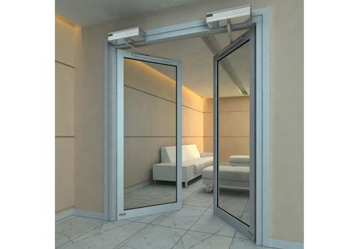 自动平开门 - 自动平开门B007 - 长治中出网-城市出入口设备门户