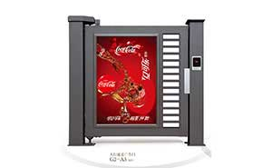 广告小门 - 人行通道广告门G2-A3(深灰) - 牡丹江中出网-城市出入口设备门户
