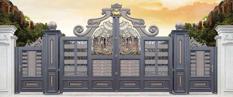 缙颐阳光城选择了汉中出安智能铝艺大门