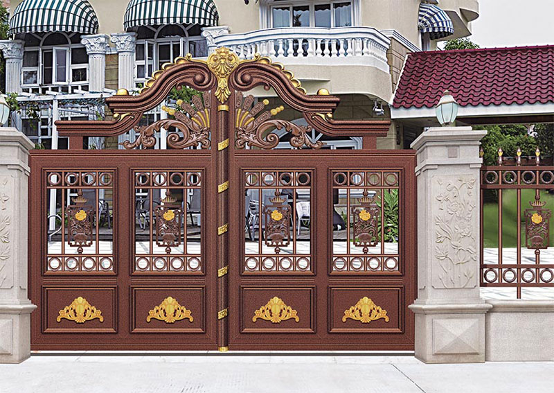铝艺大门 - 别墅门LV-007 - 汉中中出网-城市出入口设备门户