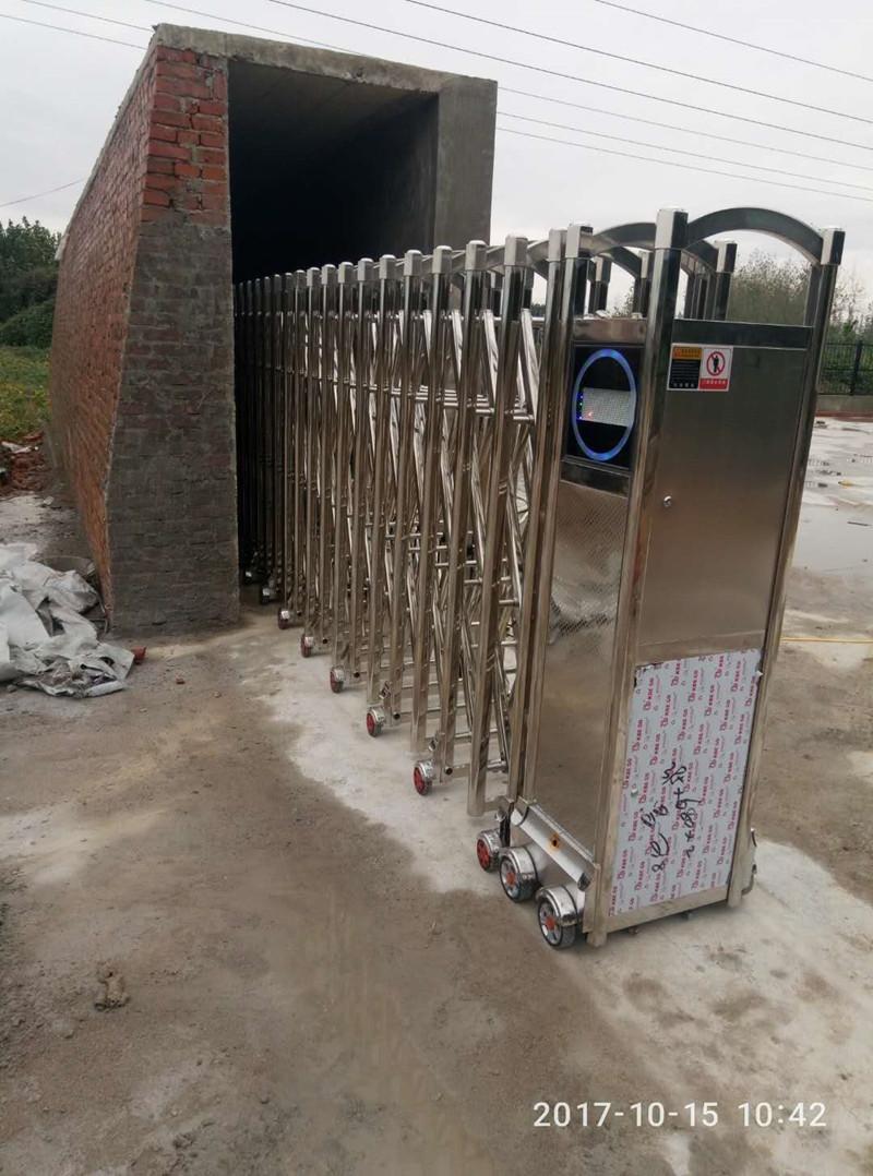 汉中城固县沙河营垃圾处理厂电动伸缩门案例 - 汉中中出网-城市出入口设备门户