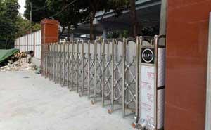 汉中汉通工程建设有限公司电动伸缩门案例 - 汉中中出网-城市出入口设备门户