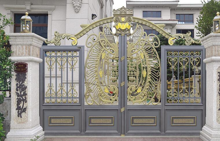 大同出安智能铝艺大门为绿地璀璨天城大门口添上色彩