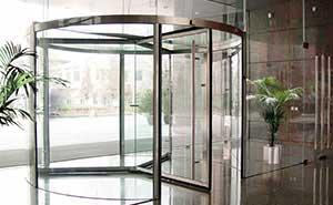 旋转门 - KM023系列手动旋转门2 - 六安中出网-城市出入口设备门户