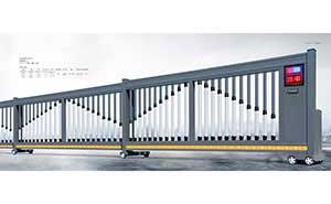 分段平移门 - 智能伸缩平移门909D(深灰) - 丹东中出网-城市出入口设备门户