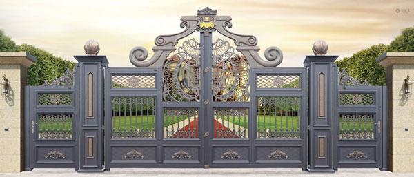 吕梁出安智能铝艺大门在龙湾福邸的工程验收