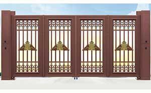 电动折叠门 - 智能悬浮折叠门007 - 吕梁中出网-城市出入口设备门户