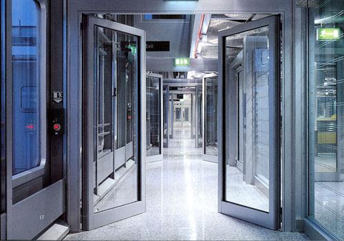 自动平开门 - 自动平开门B008 - 吕梁中出网-城市出入口设备门户