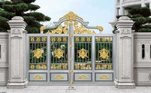 钢艺大门 - 钢艺庭院门-GY-1005