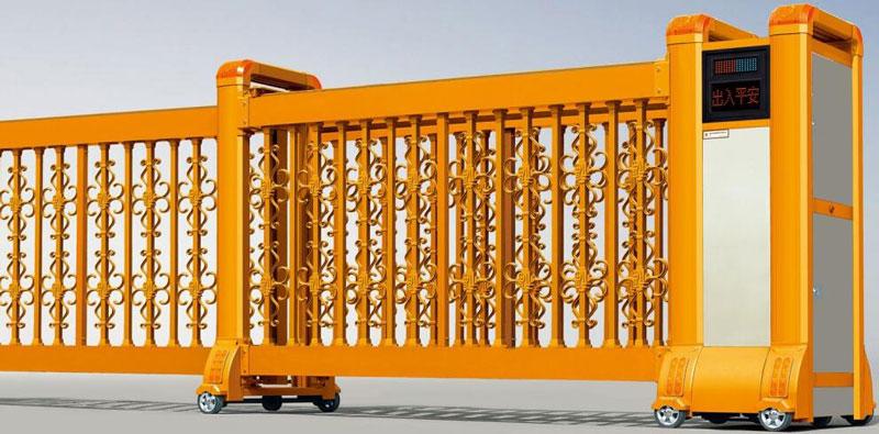 直线平移门 - 直线门904F(土豪金) - 北海中出网-城市出入口设备门户