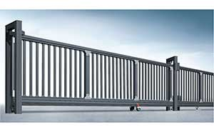分段平移门 - 宙斯盾平移门 - 河源中出网-城市出入口设备门户