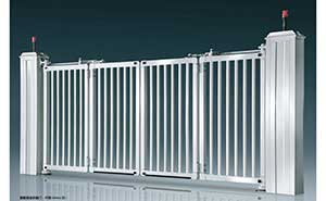 电动折叠门 - 智能悬浮折叠门-开泰DD4A(白) - 河源中出网-城市出入口设备门户