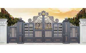 铝艺大门 - 卢浮幻影-皇冠-LHG17101 - 鄂州中出网-城市出入口设备门户