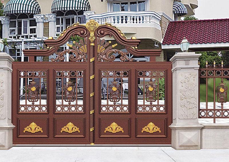铝艺大门 - 别墅门LV-007 - 鄂州中出网-城市出入口设备门户