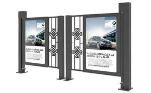 广告小门 - 中国风风格人行通道广告门 - 白城中出网-城市出入口设备门户
