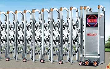 不锈钢伸缩门 - 步步高升A4 - 中出伸缩门网