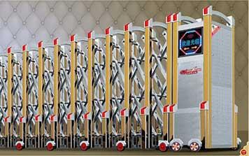 不锈钢伸缩门 - 卫士-(精钢)A3 - 中出伸缩门网