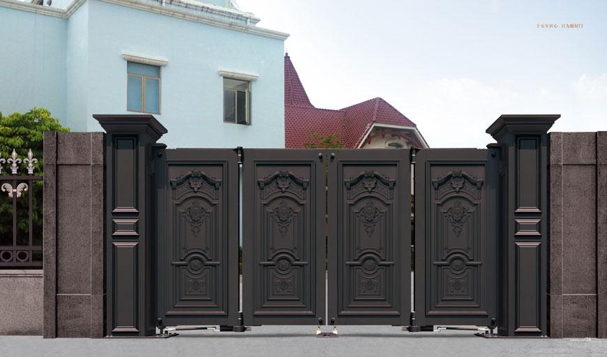 电动折叠门 - 智能悬折门938-FA2(深咖) - 三亚中出网-城市出入口设备门户