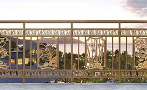 铝艺护栏 - 护栏FGL-H6005 - 三亚中出网-城市出入口设备门户