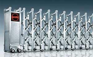 不锈钢伸缩门 - 瑞安-p - 白银中出网-城市出入口设备门户